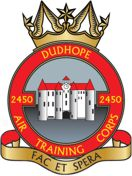 2450 (Dudhope) Air Training Corps (ATC)/Air Cadets Squadron badge. Click to go to the 2450 (Dudhope) Air Training Corps (ATC)/Air Cadets homepage