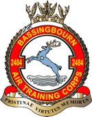 2484 (Bassingbourn) Air Training Corps (ATC)/Air Cadets Squadron badge. Click to go to the 2484 (Bassingbourn) Air Training Corps (ATC)/Air Cadets homepage