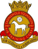 2487 (Easingwold) Air Training Corps (ATC)/Air Cadets Squadron badge. Click to go to the 2487 (Easingwold) Air Training Corps (ATC)/Air Cadets homepage