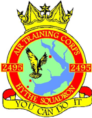 2495 (Hythe) Air Training Corps (ATC)/Air Cadets Squadron badge. Click to go to the 2495 (Hythe) Air Training Corps (ATC)/Air Cadets homepage