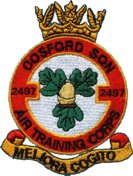 2497 (Cosford) Air Training Corps (ATC)/Air Cadets Squadron badge. Click to go to the 2497 (Cosford) Air Training Corps (ATC)/Air Cadets homepage