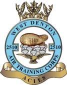 2510 (West Denton) Air Training Corps (ATC)/Air Cadets Squadron badge. Click to go to the 2510 (West Denton) Air Training Corps (ATC)/Air Cadets homepage