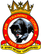 2533 (Bodmin) Air Training Corps (ATC)/Air Cadets Squadron badge. Click to go to the 2533 (Bodmin) Air Training Corps (ATC)/Air Cadets homepage