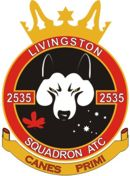 2535 (Livingston) Air Training Corps (ATC)/Air Cadets Squadron badge. Click to go to the 2535 (Livingston) Air Training Corps (ATC)/Air Cadets homepage