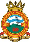 254 (Aberdare) Air Training Corps (ATC)/Air Cadets Squadron badge. Click to go to the 254 (Aberdare) Air Training Corps (ATC)/Air Cadets homepage