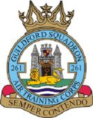 261 (Guildford) Air Training Corps (ATC)/Air Cadets Squadron badge. Click to go to the 261 (Guildford) Air Training Corps (ATC)/Air Cadets homepage