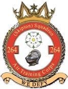 264 (Skipton) Air Training Corps (ATC)/Air Cadets Squadron badge. Click to go to the 264 (Skipton) Air Training Corps (ATC)/Air Cadets homepage