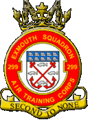 299 (Exmouth) Air Training Corps (ATC)/Air Cadets Squadron badge. Click to go to the 299 (Exmouth) Air Training Corps (ATC)/Air Cadets homepage