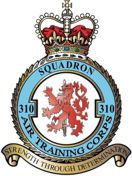 310 (Widnes) Air Training Corps (ATC)/Air Cadets Squadron badge. Click to go to the 310 (Widnes) Air Training Corps (ATC)/Air Cadets homepage