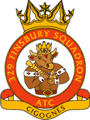 329 (Finsbury) Air Training Corps (ATC)/Air Cadets Squadron badge. Click to go to the 329 (Finsbury) Air Training Corps (ATC)/Air Cadets homepage