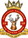 33F (Battersea) Air Training Corps (ATC)/Air Cadets Squadron badge. Click to go to the 33F (Battersea) Air Training Corps (ATC)/Air Cadets homepage
