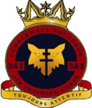 343 (Camberwell) Air Training Corps (ATC)/Air Cadets Squadron badge. Click to go to the 343 (Camberwell) Air Training Corps (ATC)/Air Cadets homepage