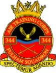 344 (Fulham) Air Training Corps (ATC)/Air Cadets Squadron badge. Click to go to the 344 (Fulham) Air Training Corps (ATC)/Air Cadets homepage
