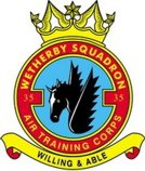 35 (Wetherby) Air Training Corps (ATC)/Air Cadets Squadron badge. Click to go to the 35 (Wetherby) Air Training Corps (ATC)/Air Cadets homepage