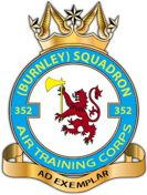 352 (Burnley) Air Training Corps (ATC)/Air Cadets Squadron badge. Click to go to the 352 (Burnley) Air Training Corps (ATC)/Air Cadets homepage