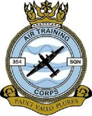 354 (Dover) Air Training Corps (ATC)/Air Cadets Squadron badge. Click to go to the 354 (Dover) Air Training Corps (ATC)/Air Cadets homepage