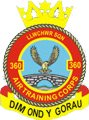 360 (Llwchwr) Air Training Corps (ATC)/Air Cadets Squadron badge. Click to go to the 360 (Llwchwr) Air Training Corps (ATC)/Air Cadets homepage