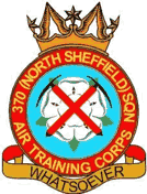 370 (North Sheffield) Air Training Corps (ATC)/Air Cadets Squadron badge. Click to go to the 370 (North Sheffield) Air Training Corps (ATC)/Air Cadets homepage