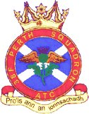 38F (Perth) Air Training Corps (ATC)/Air Cadets Squadron badge. Click to go to the 38F (Perth) Air Training Corps (ATC)/Air Cadets homepage