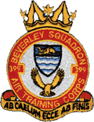 399 (Beverley) Air Training Corps (ATC)/Air Cadets Squadron badge. Click to go to the 399 (Beverley) Air Training Corps (ATC)/Air Cadets homepage