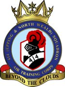 414 (Epping & North Weald) Air Training Corps (ATC)/Air Cadets Squadron badge. Click to go to the 414 (Epping & North Weald) Air Training Corps (ATC)/Air Cadets homepage