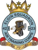 423 (Elgin) Air Training Corps (ATC)/Air Cadets Squadron badge. Click to go to the 423 (Elgin) Air Training Corps (ATC)/Air Cadets homepage
