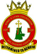 42F (Kings Lynn) Air Training Corps (ATC)/Air Cadets Squadron badge. Click to go to the 42F (Kings Lynn) Air Training Corps (ATC)/Air Cadets homepage