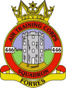 446 (Forres) Air Training Corps (ATC)/Air Cadets Squadron badge. Click to go to the 446 (Forres) Air Training Corps (ATC)/Air Cadets homepage