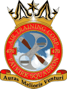 470 (Falkirk) Air Training Corps (ATC)/Air Cadets Squadron badge. Click to go to the 470 (Falkirk) Air Training Corps (ATC)/Air Cadets homepage