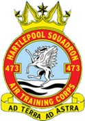 473 (Hartlepool) Air Training Corps (ATC)/Air Cadets Squadron badge. Click to go to the 473 (Hartlepool) Air Training Corps (ATC)/Air Cadets homepage