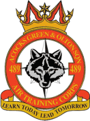 489 (Acocks Green & Olton) Air Training Corps (ATC)/Air Cadets Squadron badge. Click to go to the 489 (Acocks Green & Olton) Air Training Corps (ATC)/Air Cadets homepage