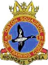 51 (Orton) Air Training Corps (ATC)/Air Cadets Squadron badge. Click to go to the 51 (Orton) Air Training Corps (ATC)/Air Cadets homepage