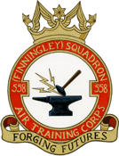 558 (Finningley) Air Training Corps (ATC)/Air Cadets Squadron badge. Click to go to the 558 (Finningley) Air Training Corps (ATC)/Air Cadets homepage