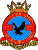 571 (Cupar) Air Training Corps (ATC)/Air Cadets Squadron badge. Click to go to the 571 (Cupar) Air Training Corps (ATC)/Air Cadets homepage