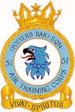 57 (Potters Bar) Air Training Corps (ATC)/Air Cadets Squadron badge. Click to go to the 57 (Potters Bar) Air Training Corps (ATC)/Air Cadets homepage