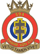 594 (Thame) Air Training Corps (ATC)/Air Cadets Squadron badge. Click to go to the 594 (Thame) Air Training Corps (ATC)/Air Cadets homepage