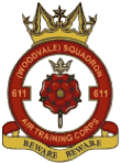611 (Woodvale) Air Training Corps (ATC)/Air Cadets Squadron badge. Click to go to the 611 (Woodvale) Air Training Corps (ATC)/Air Cadets homepage