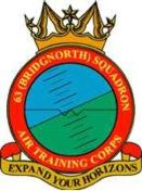 63 (Bridgnorth) Air Training Corps (ATC)/Air Cadets Squadron badge. Click to go to the 63 (Bridgnorth) Air Training Corps (ATC)/Air Cadets homepage