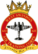 633 (West Swindon) Air Training Corps (ATC)/Air Cadets Squadron badge. Click to go to the 633 (West Swindon) Air Training Corps (ATC)/Air Cadets homepage
