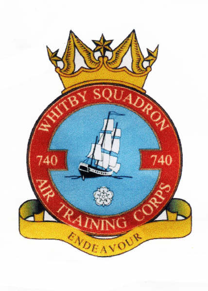 740 (Whitby) Air Training Corps (ATC)/Air Cadets Squadron badge. Click to go to the 740 (Whitby) Air Training Corps (ATC)/Air Cadets homepage