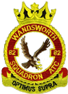 82 (Wandsworth) Air Training Corps (ATC)/Air Cadets Squadron badge. Click to go to the 82 (Wandsworth) Air Training Corps (ATC)/Air Cadets homepage