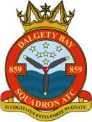 859 (Dalgety Bay) Air Training Corps (ATC)/Air Cadets Squadron badge. Click to go to the 859 (Dalgety Bay) Air Training Corps (ATC)/Air Cadets homepage