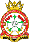 860 (Mosborough) Air Training Corps (ATC)/Air Cadets Squadron badge. Click to go to the 860 (Mosborough) Air Training Corps (ATC)/Air Cadets homepage