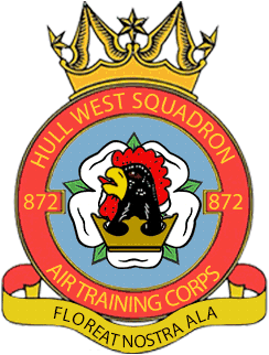 872 (Hull West) Air Training Corps (ATC)/Air Cadets Squadron badge. Click to go to the 872 (Hull West) Air Training Corps (ATC)/Air Cadets homepage