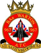 967 (British Aerospace Warton) Air Training Corps (ATC)/Air Cadets Squadron badge. Click to go to the 967 (British Aerospace Warton) Air Training Corps (ATC)/Air Cadets homepage