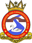Bedfordshire & Cambridgeshire Wing Air Training Corps (ATC)/Air Cadets Wing badge. Click to go to the Bedfordshire & Cambridgeshire Wing Air Training Corps (ATC)/Air Cadets Wing homepage