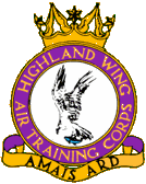 Highland Wing Air Training Corps (ATC)/Air Cadets Wing badge. Click to go to the Highland Wing Air Training Corps (ATC)/Air Cadets Wing homepage