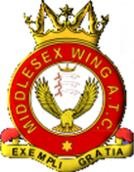 Middlesex Wing Air Training Corps (ATC)/Air Cadets Wing badge. Click to go to the Middlesex Wing Air Training Corps (ATC)/Air Cadets Wing homepage
