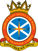 North East Scotland Wing Air Training Corps (ATC)/Air Cadets Wing badge. Click to go to the North East Scotland Wing Air Training Corps (ATC)/Air Cadets Wing homepage