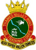 Thames Valley Wing Air Training Corps (ATC)/Air Cadets Wing badge. Click to go to the Thames Valley Wing Air Training Corps (ATC)/Air Cadets Wing homepage